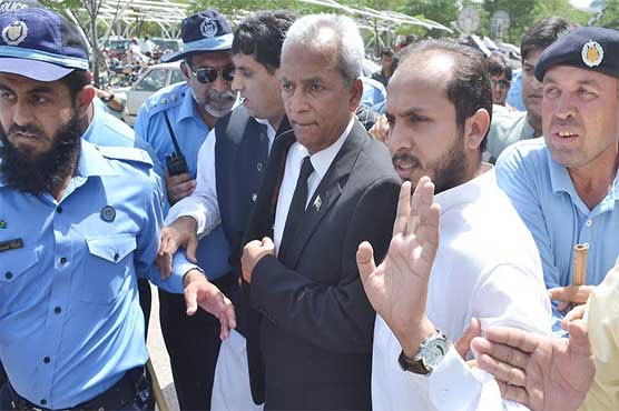 Nehal Hashmi admitted to hospital after chest pain