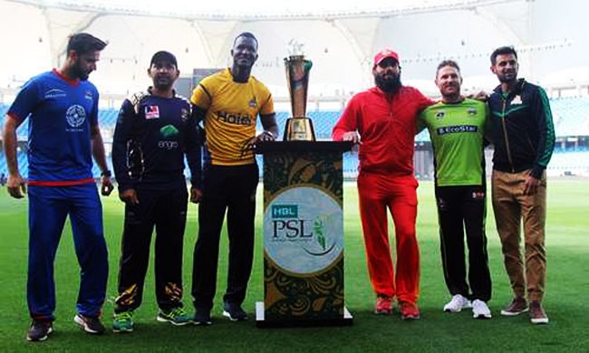 PSL 2018 trophy unveiled by franchise captains in Dubai