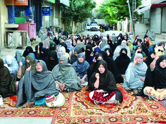 Hazaras stage protest against killings in Quetta