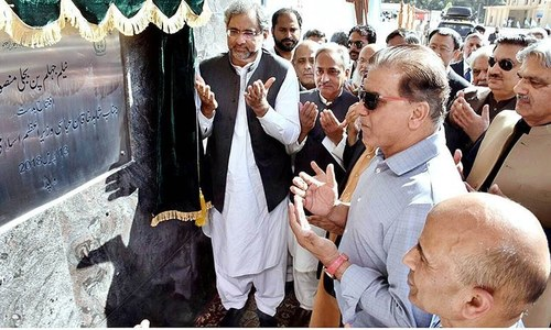 PM Abbasi inaugurates 969MW project in AJK