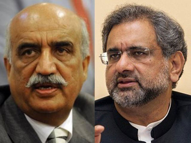 Abbasi-Khursheed huddle fails to name caretaker PM