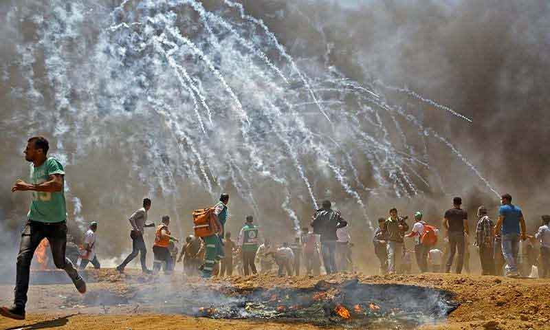 Dozens martyred by Israeli fire as US Embassy opens in Jerusalem