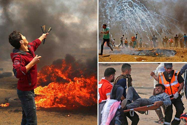 Israel martyrs 52 in violent clashes as US opens controversial Jerusalem embassy