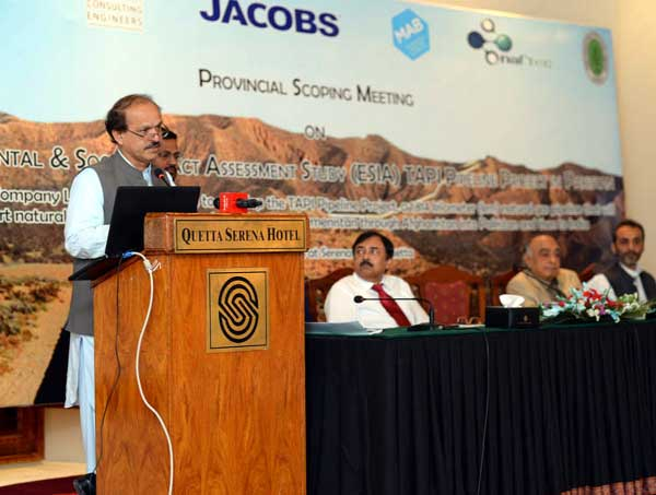 TAPI pipeline a good omen for Balochistan development: Kakar