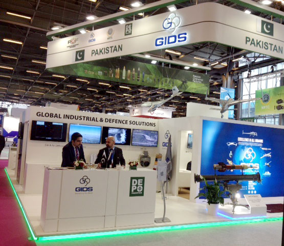 Pak defence products exhibited at defence Eurosatory in Paris
