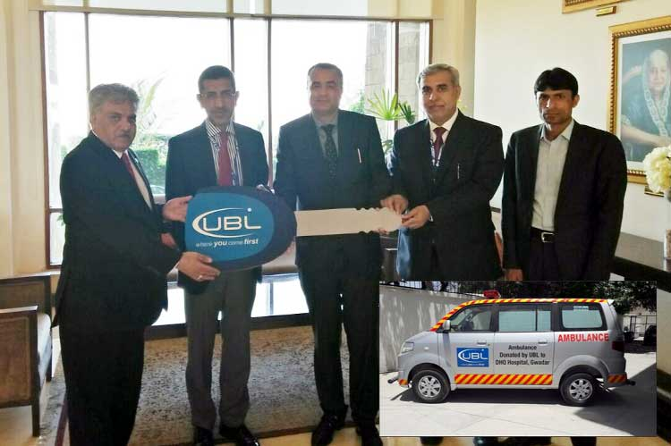 UBL donates ambulance to district hospital Gwadar