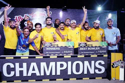 Zohaib best bowler of Red Bull cricket