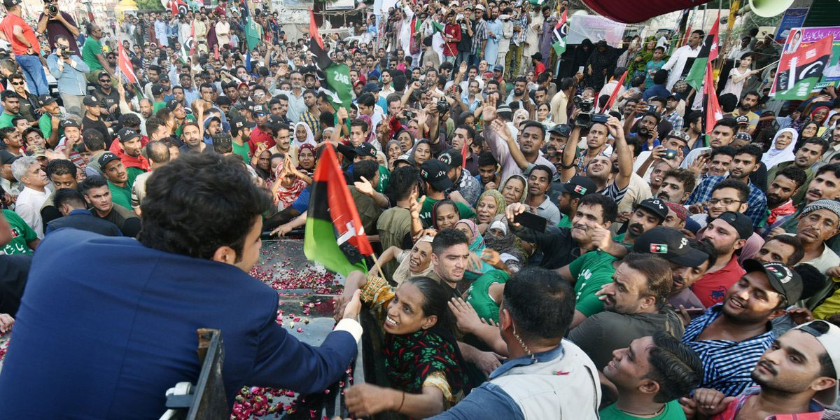 Bilawal kicks off election campaign from Lyari, rally ransacked by mob