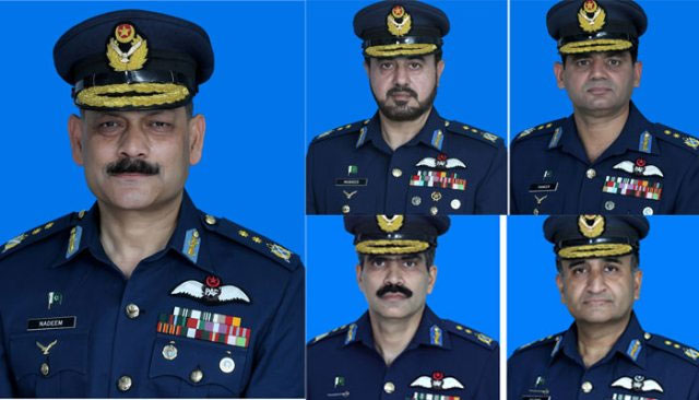 Govt promotes 5 PAF officers to Air Vice Marshal rank