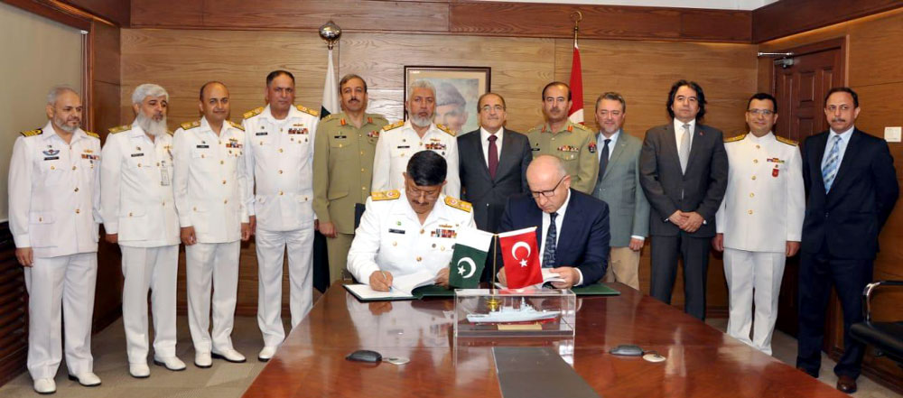 Pakistan Navy signs contract to acquire 4 Turkish warships