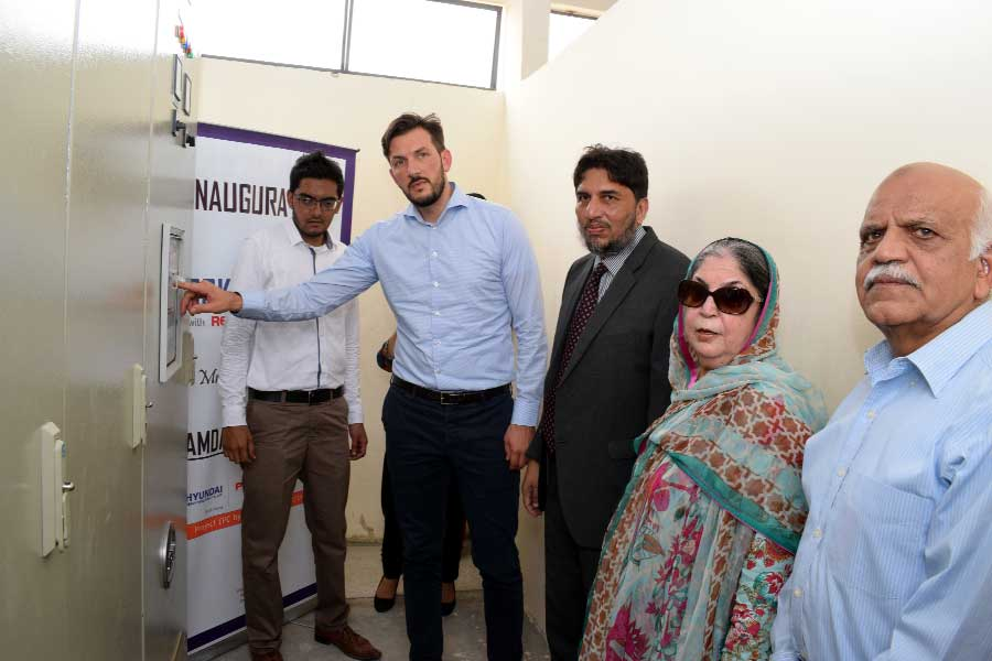 Solar Power Plant and Plantation Drive open at Hamdard University