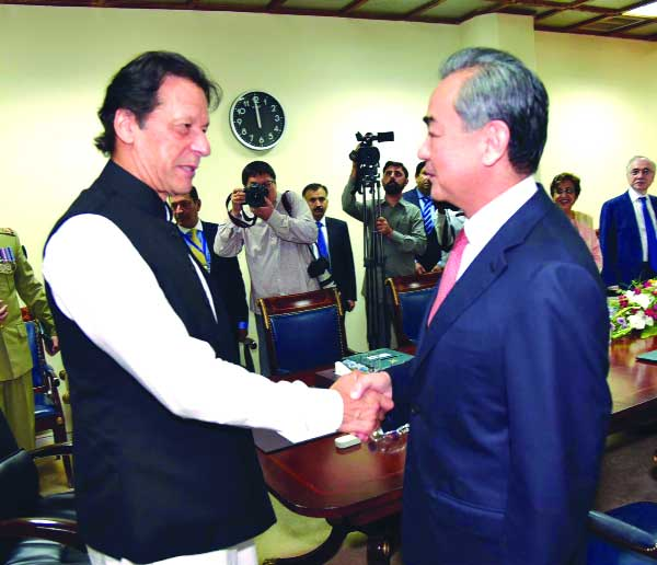 Imran Khan meets Chinese FM, KSA InfoMin & discuss mutual ties, coop
