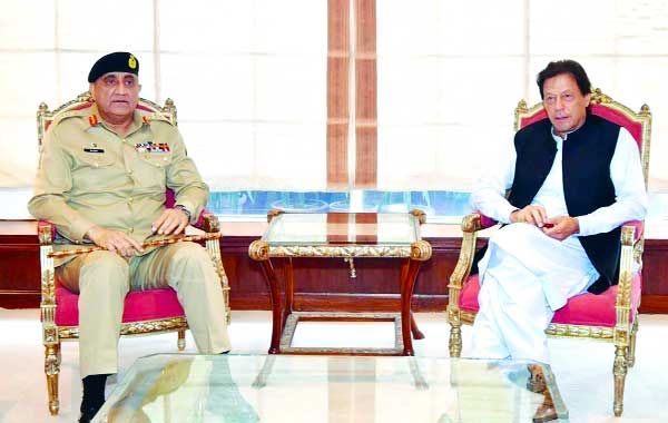 PM, COAS review relations with US, other issues prior to Pompeo's visit